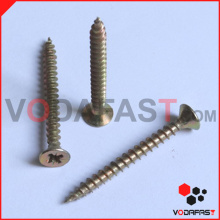 Yellow Zinc Plated Pozi Drive Chipboard Screw