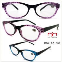 Senhoras óculos de leitura plástica com padrão Cobweb (wrp508329)