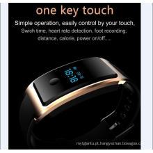 Relógio de Pulso à prova d 'água Inteligente Construído-em USB Wechat Interconexão Monitor de Freqüência Cardíaca O Monitoramento do Sono do Bluetooth Super-Longo Standy