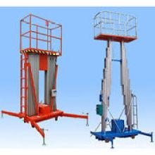 Plataforma de trabajo hidráulica de aluminio de doble aleta