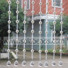Purchasing for String Curtains With Beads,Beaded Garland Strands,Wedding Beaded Garland Supplier Holiday Decoration 18MM&18MM&6MM Wire Crystal Beaded Garland Trim export to Ireland Supplier