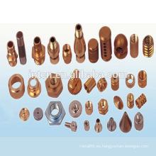 Personalizar piezas de cobre de mecanización del cnc de alta precisión