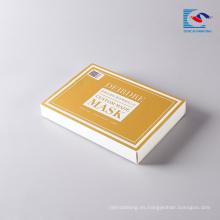 caja de empaquetado de papel rígida del regalo del arte de la máscara facial cosmética
