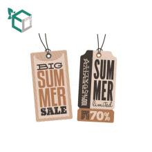 China papel de embalagem de design impresso hag tags para roupas