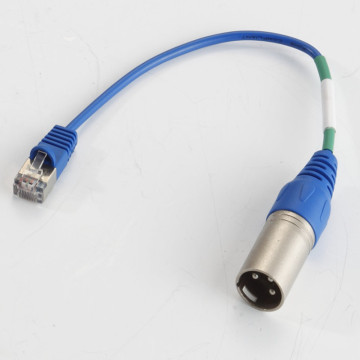 XLR 3 pin macho a RJ45 cable macho