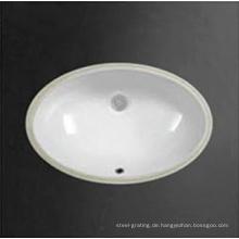 Undermount weiße Farbe Bad Keramik Becken unter Theke Spüle