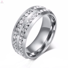 New Design Stainless Steel Inlay With Stone Silver Rings, Fashion Stainless Steel Ring