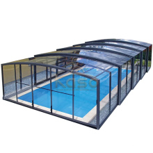 Cover Roof Cost Drain Dome Swimming Pool Enclosure