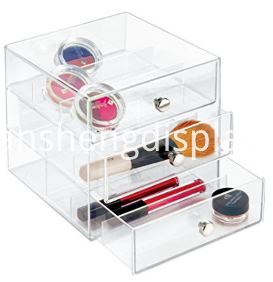 Stackable 3-Drawer Storage Organizer