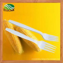 Disposable Biodegradable Cornstarch Fork 170mm