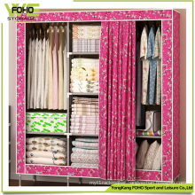 Huge Size Curtain Door Bedroom Custom Cloth Furniture Wardrobes