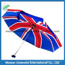 Флаг Великобритании напечатанный зонтик в 3 сгибе минио