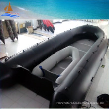 8m Long Boat Black Military Inflatable Boat 0.9mm Inflatable Boats for Rescue
