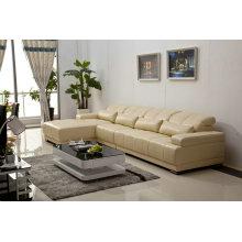 Sofá seccional de cuero moderno sofá, sofá de la esquina, (983)