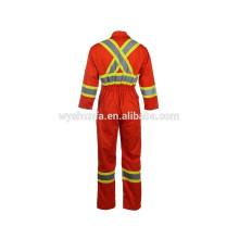 CSA Z96-09 tejido de poli-algodón ropa de trabajo retrorreflectante personalizada, chaqueta de alta visibilidad