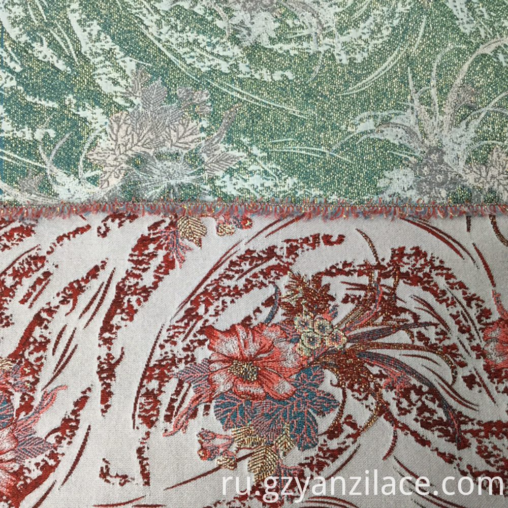 Green Knit jacquard Textile Polyester Fabric
