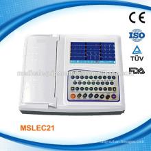 MSLEC21W ISO CE 12 Kanal Digital tragbare EKG Maschinen / EKG Maschine