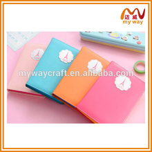 different design of custom leather notebook/cute diary for girls