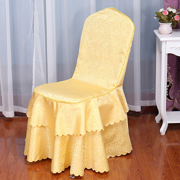 Polyester double-deck hotel chair cover