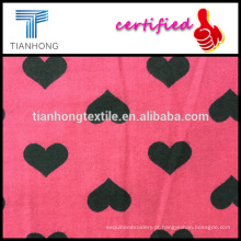 projeto de nova primavera de 2016 para ELAND 100 algodão com sarja impressão do coração forma tecer tecido flanela de lã sensação