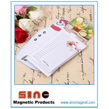 Criativo personalizado Magnet Fridge Magnetic Memo Pad