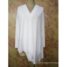 Senhoras de Design de Moda Personalizadas e Camisa Feminina Jersey Asym Top