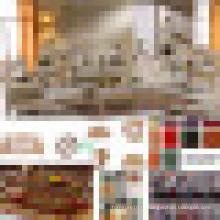 Деревянные ткань диван для гостиной мебели (992D)