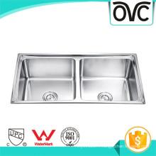 mode chaud double vasque 304 évier en acier inoxydable mode chaud double vasque 304 évier en acier inoxydable