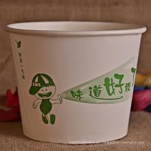 Cubo de papel desechable para alimentos