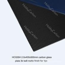 feuilles de verre de carbone de multi-application pour la table de rc / bateaux 400 * 500 * 2.0mm