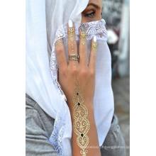 Autocolante de tatuagem metálica de tatuagem de hena