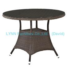 Mesinha de mesa redonda de mesa de mesa de mesa de xícara de vime