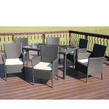 Muebles baratos de jardín Rattan KD comedor silla de Metal