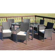 Garden Rattan KD Cheap Furniture Dining Metal Chair Set
