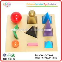 Montessori - Símbolos sólidos de gramática con bandeja recortada