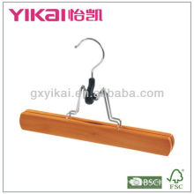 Wooden trousers hanger with white felt