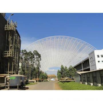 Hochwertiger gewölbter Edelstahl-Gitter-Rahmen-Fertigstahlbau