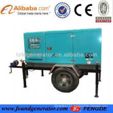 CE approved 80kw 100kva silent mobile generator
