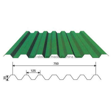 750mm Wide Corrugated Color Steel Roofing Sheet