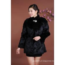 Alta Qualidade Senhora Longo Estilo Inverno Pele Vestuário Mulheres Outwear Moda Casaco De Pelúcia Inverno Atacado