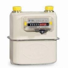 Medidor de gás de diafragma de aço laminado a frio para uso doméstico