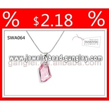 swarovski crystal pendant silver necklace