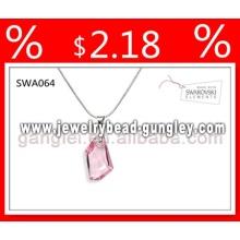 colar de pingente de prata de cristal Swarovski