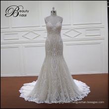 Vestido de novia tradicional de encaje con sirena