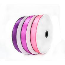 Venda Por Atacado Custom Logo Polyester Double Sided Satin Ribbon by The Yard