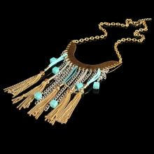 Fashion Gold Alloy Jewelry Fringe Charming Necklace