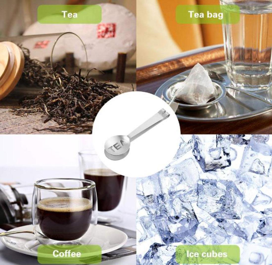 Stainless Steel 2-In-1 Tea Bag Clip