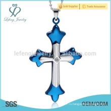 Перекрестные подвески для мужчин и женщин из нержавеющей стали для ожерелий