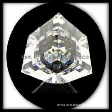 K9 Blanc cristal haute qualité coupe coin cristal Cube