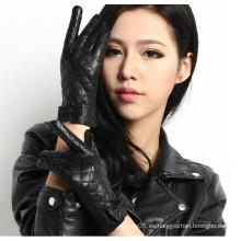 De alta calidad de moda lavado PU guantes de cuero